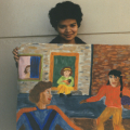CAP visual art workshop student, 1988. CAP, Chapel Street, Woodstock