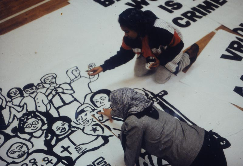 Violence against Women, media project billboard