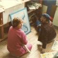 Trish de Villiers & Lionel Davis, 1984. CAP, Chapel Street, Woodstock