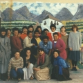 Lionel Davis (interim manager), Hilder Amato (facilitator), community workers and teachers, 1988. CAP visual art workshop. CAP, Chapel Street, Woodstock