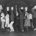 Community workers and teachers, 1988. Performance dance. CAP, Chapel Street, Woodstock