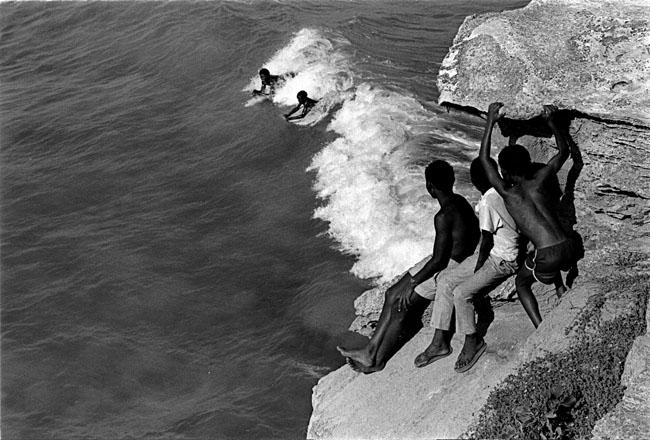 Arniston kids body surfing off the Western Cape coast, 1989. Artist's collection (Photo: C Nunn)