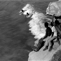 Arniston kids body surfing off the Western Cape coast, 1989. Artist's collection (Photo: C Nunn)