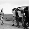 Funeral of two comrade youth abducted and killed in the 'Natal War,' Mphophomeni, Howick. 1987.