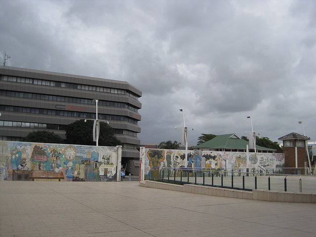 South African Interim Bill of Rights Mural, 1995. Durban, South Africa. (Photo: Lee Bob Black, 2010)