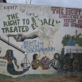 Detail from South African Interim Bill of Rights Mural, 1995. Durban, South Africa. (Photo: Lee Bob Black, 2010)
