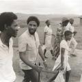 Mi Hlatswayo, Alfred Qabula and members of Qabula's family and community (photo - Omar Badsha)