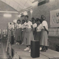 Metal Box choir, Workers library launch, Wits University, 1988 (photo - Rafs Mayet)