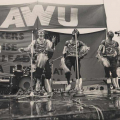 Abafana Bo Moya performing at Metal Allied Workers Union annual general meeting Curries Fountain, Durban, November 1986 (photo - Rafs Mayet)