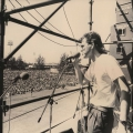 Steve Kromberg , Mandela welcome rally, Kings Park Stadium ,Durban, 1990 (photo - Myron Peters)