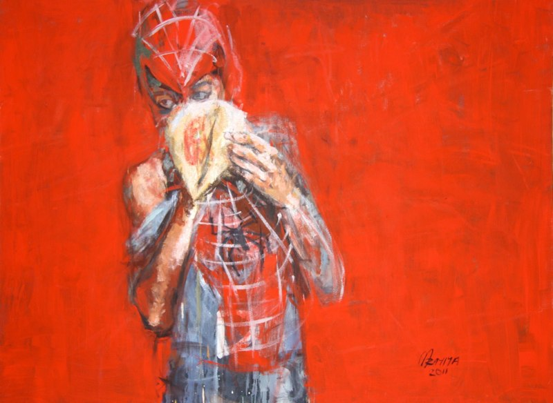 Spider kid on glue, 2012.
