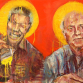 The Saints, 2012. Acrylic on canvas, 90 x 140 cm