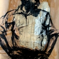 Untitled, 2005. Charcoal and paint on paper, 102 x 60.5 cm. Private collection, Cape Town.