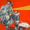 Peace is Dead, 2012. Acrylic on canvas, 100 x 120 cm
