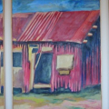 Elalini series 2, 1997. Oil on canvas, Tryptich, 120 x 60 side panels, 120 x 80 cm centre panel
