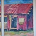 <em>Elalini series 2</em>, 1997. Oil on canvas, Tryptich, 120 x 60 side panels, 120 x 80 cm centre panel