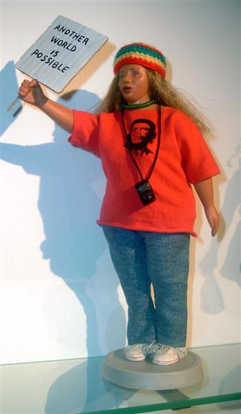 <em>Anti Globalization Barbie. </em>From <em>Barbie Bartmann Homecoming Queen</em> series, 2003-5.