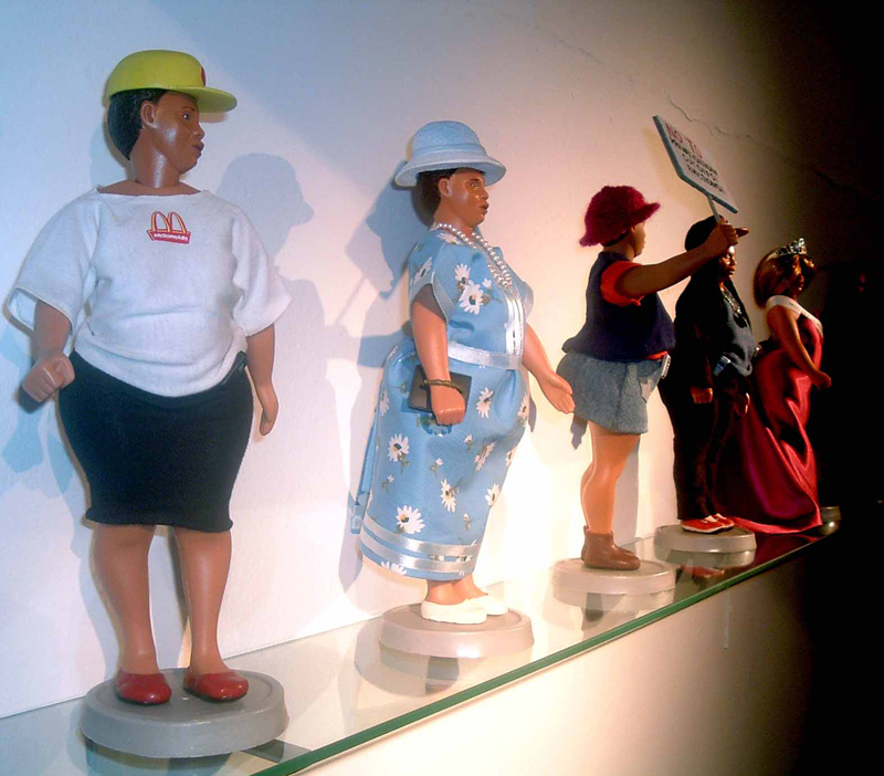<em>Barbie Bartmann Homecoming Queen (installation view). </em>AVA, Cape Town, 2003-5.