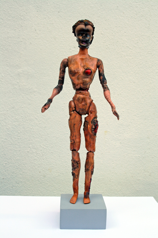 <em>Drone Strike Barbie,</em>, from<em> Brutalised Barbie series. </em>