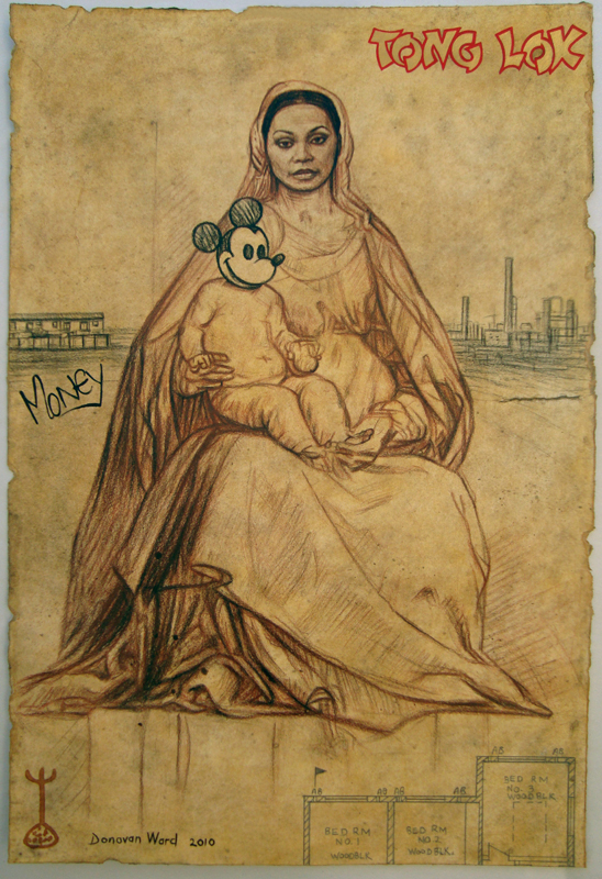 <em>Study for a Woman and Child 1 (After Raphael),</em> 2010.
