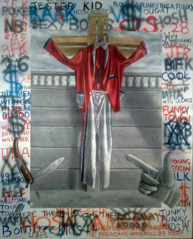 <em>The Crucified Coon</em>, 1985.