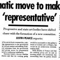 Justin Pearce, Dramatic move to make art 'representative'
