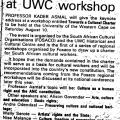 Professor to speak at UWC workshop