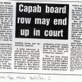 Ayesha Ismail, Capab board row may end up in court, Sunday Times, 30 October 1994
