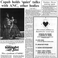 Capab holds 'quiet' talks with ANC, other bodies, Argus,  18 August 1992