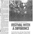 Festival with a difference, South, 7 - 13 March 1991
