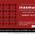 3+3+3=3, poster for Inasmuch performance, Serialworks, Woodstock, Cape Town, 2010.