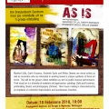 AS IS exhibtion poster, 2010.