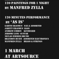 Poster for As Is performance, Artsource Art Store, Observatory, Cape Town, 2013