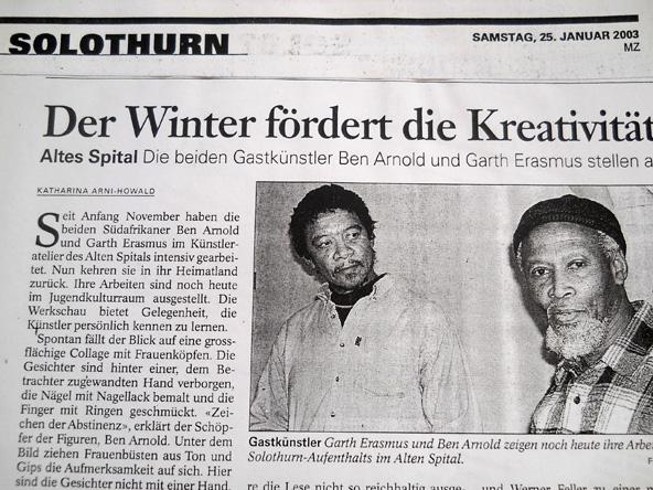 Article re Swiss residency, 2003