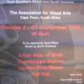 Exhibition poster, Eagles Speak,  2002.