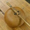 Gourd Bow, detail. Circa 1980's