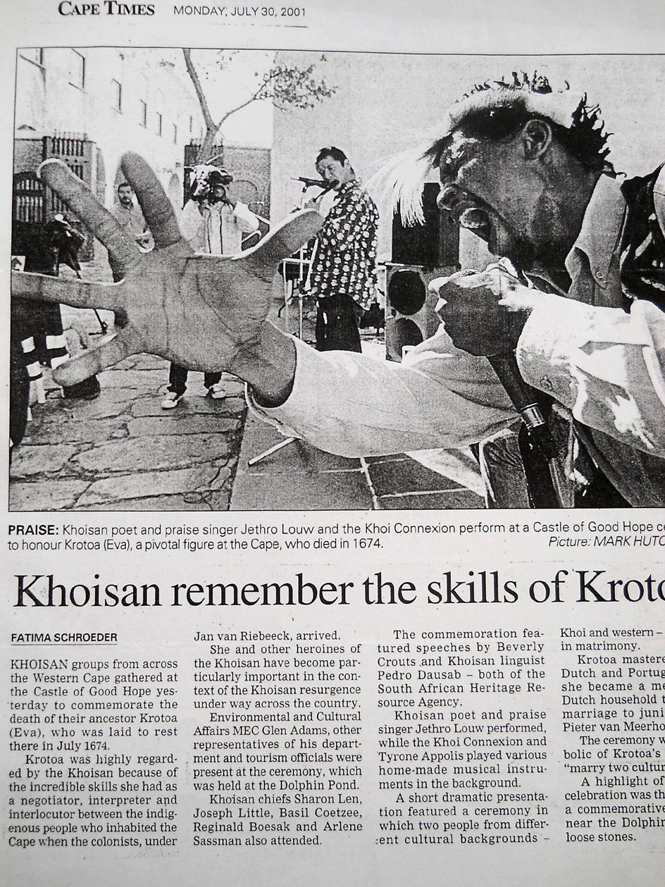 Khoi-Khonnexion. Cape Times. 2001