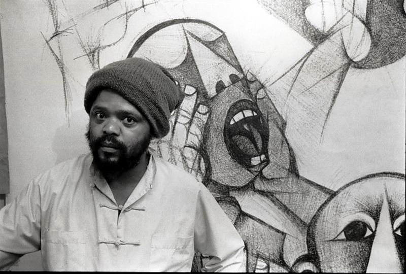 Dumile Feni, New York, 1983. Photograph, dimensions variable. (Photo: G Hallett)