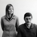 Jann Turner and Eugene de Kock at TRC Hearing, 1997. Photograph, dimensions variable. (Photo: G Hallett)