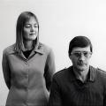 Jann Turner and Eugene de Kock at TRC Hearing, 1997. Photograph, dimensions variable. (Photo: G Hallett)