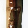 Mona Gisa, 2005. Mahogany, 35 x 12 x 12 cm