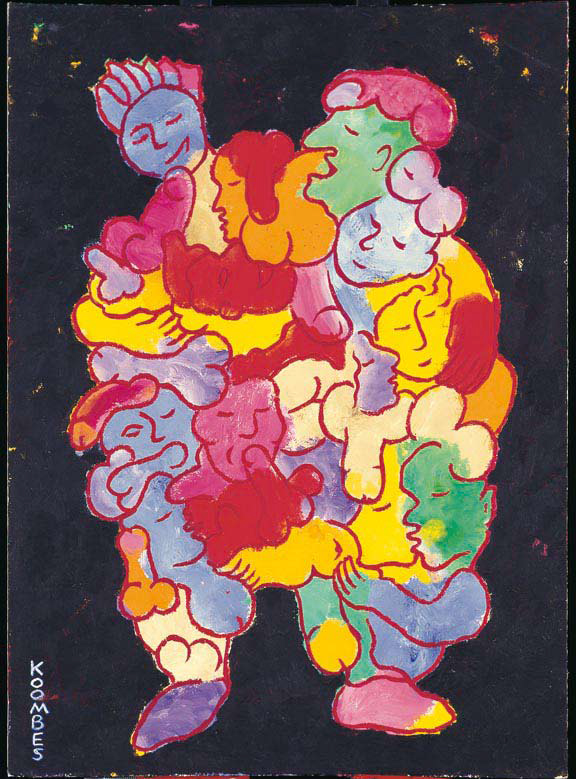 <em>Les Monstres III</em>. 1991. Acrylic on board. 35x50cm