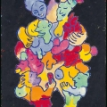 <em>Les Monstres I</em>. 1991. Acrylic on board. 35x50cm