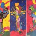<em>C'est moi (et non le Christ)</em> [Triptych]. 1993. Acrylic on cardboard. 81x37x3cm