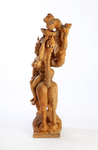 Isaac Nkululeko Makeleni - Seven Vices. Oak, paint and string, 63.5 x 24.5 x 18.5 cm, 1991 (Collection: Iziko Museums. Photo: C. Beyer