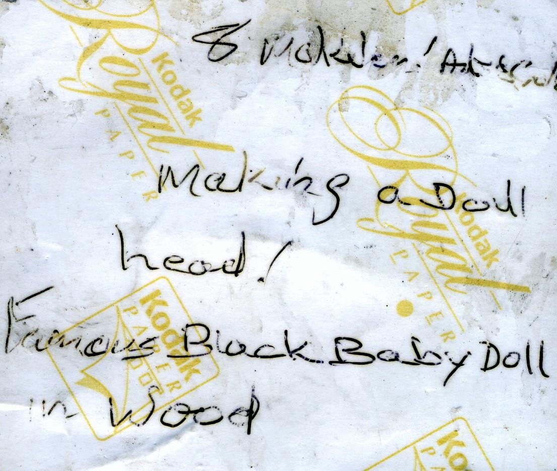 Isaac Nkululeko Makeleni - Famous black baby dolls (inscription) (Photo: courtesy M. Makeleni)