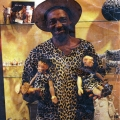 Isaac Nkululeko Makeleni - Crafts exhibitor, possibly at Masizakhe, Red Shed, Waterfront, c. 1993 (Photo: courtesy M. Makeleni)