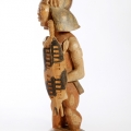 Isaac Nkululeko Makeleni - Zulu Warrior. Wood, stains, paint, 63 x 20 x 16 cm, late 1980s (Collection: M. Pissarra, Cape Town. Photo: C. Beyer