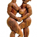 Isaac Nkululeko Makeleni - Together Forever (II). Jarrah (railway sleeper), 1,048 x 530 cm, 1996 (Collection: M. Makeleni. Photo. W. Nelson)