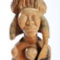 Isaac Nkululeko Makeleni - Zulu Warrior. Wood, stains, paint, 63 x 20 x 16 cm, late 1980s (Collection: M. Pissarra, Cape Town. Photo: C. Beyer